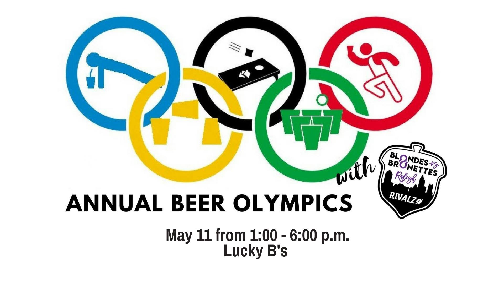 Blondes vs Brunettes Beer Olympics at Lucky B's