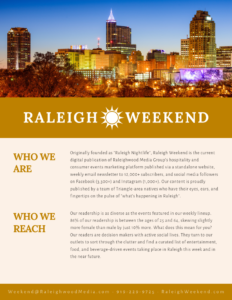 Raleigh Weekend Media Kit