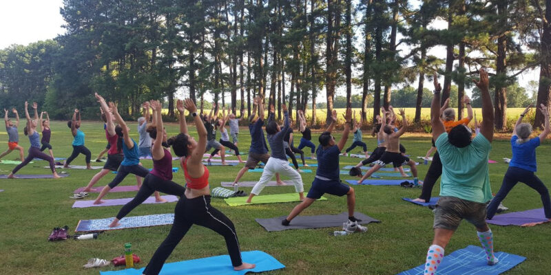 Yoga at Dix Park in Raleigh