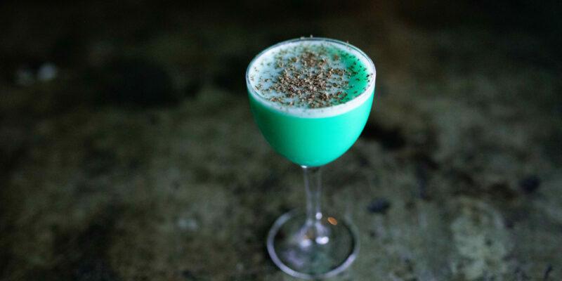 Grasshopper Vegan Cocktail at Killjoy in Raleigh NC