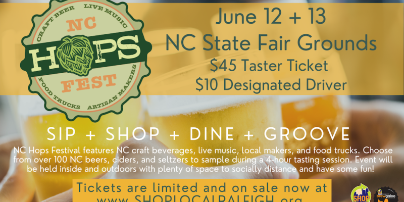 NC Hops Festival June 2021 In Raleigh, NC