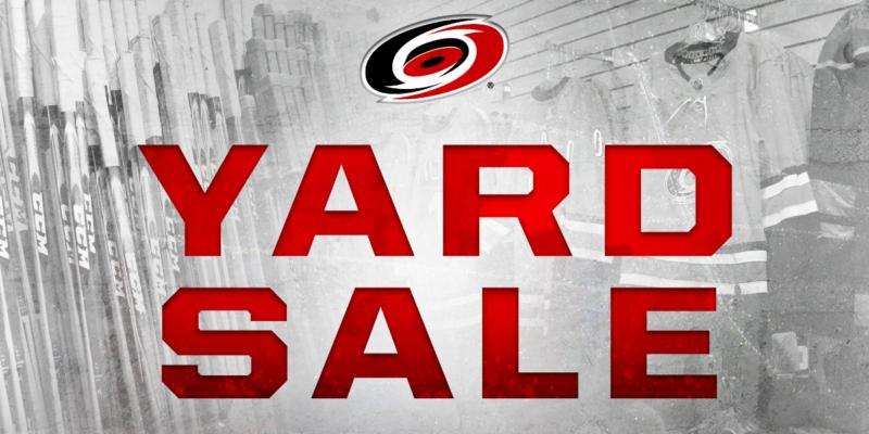 carolina hurricanes yard sale