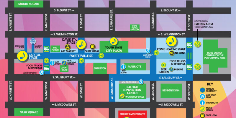 World of Bluegrass Festival Site Map
