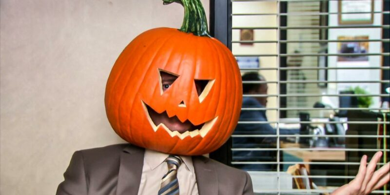 dwight shrute pumpkin head